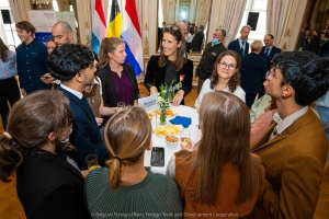 Welcome ceremony for the second edition of the Benelux Youth Forum at the Egmont Palace